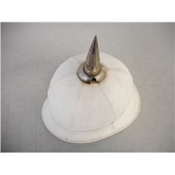WHITE SPIKED PITH HELMET