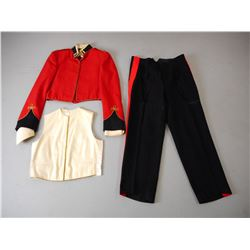 RED OFFICERS DRESS UNIFORM WITH TROUSERS & VEST
