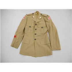 MEN'S QOR KHAKI SERVICE DRESS COAT
