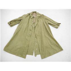 MILITARY SURPLUS TRENCH COAT/MOTORCYCLE JACKET