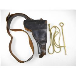 LEATHER HOLSTER & WWII PISTOL ACCCESSORIES