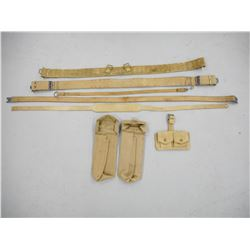 ASSORTED CANVAS BELTS, SLINGS & POUCHES