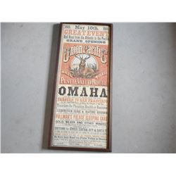 UNION PACIFIC GRAND OPENING FRAMED PRINT