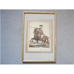 PRUSSIAN GENERAL FRAMED ETCHING