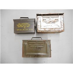 ASSORTED AMMO TINS