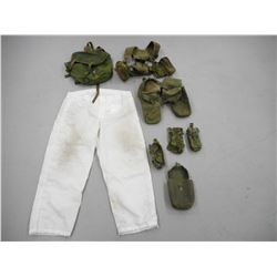 ASSORTED GREEN WEBBING & CAMO SNOW TROUSERS