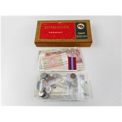 ASSORTED INTERNATIONAL COINS AND BANK NOTES