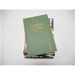 ASSORTED OFFICERS & WWII ERA BOOKS