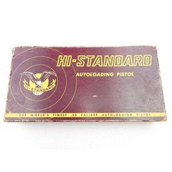 HI STANDARD PISTOL BOX & ACCESSORIES