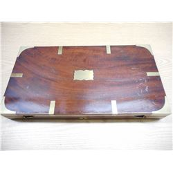 ANTIQUE MAHOGANY HANDGUN CASE