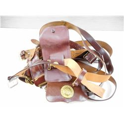 ASSORTED BROWN BELTS & POUCHES