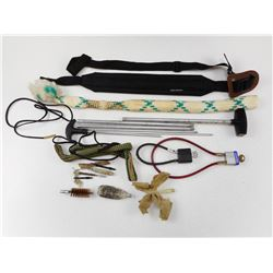 ASSORTED GUN & CLEANING ACCESSORIES