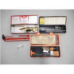 ASSORTED GUN CLEANING KITS & POCKET KNIFE