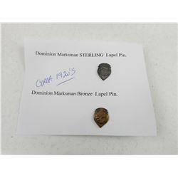 DOMINION MARKSMAN LAPEL PINS