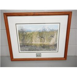 FRAMED NORTH AMERICAN WILDLIFE SERIES ARTWORK