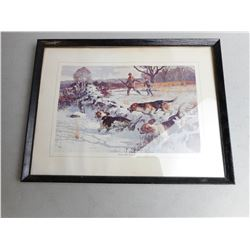 "FRAMED PRINT: BEAGLES ""FIRST TIME AROUND"""