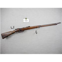 MANNLICHER CARCANO , MODEL: 1891 RIFLE  , CALIBER: 6.5 X 52 ITALIAN