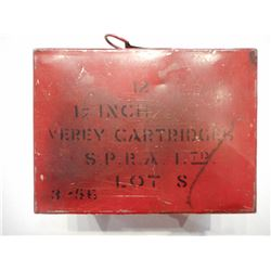 SEALED BOX OF SIGNAL FLARES , MODEL:  , CALIBER: N/A