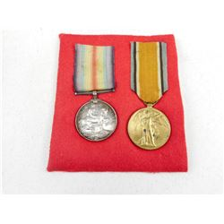 WWI PTE W.E. SIMPSON MEDALS