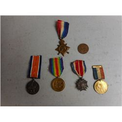 ASSORTED NAMED WWI VETERANS MEDALS