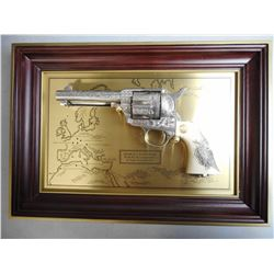 COLT SAA COMMEMORATIVE REVOLVER WITH DISPLAY PLAQUE