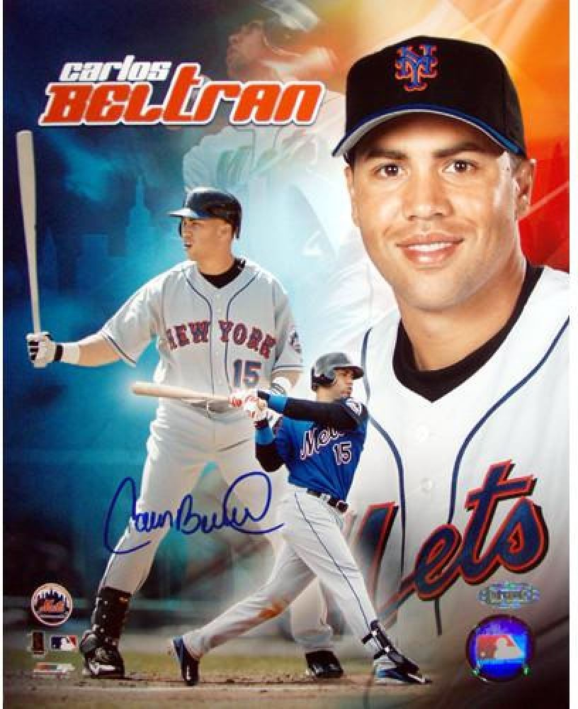 Carlos Beltran Signed Mets 8x10 Photo Mlb