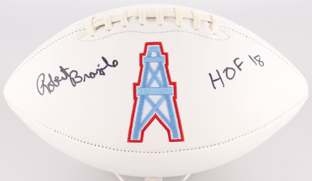 16f9f71f Image 1 : Robert Brazile Signed Oilers Logo Football Inscribed