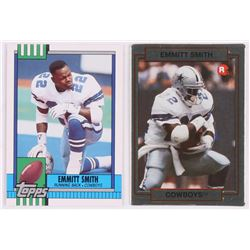 Lot Of 2 Emmitt Smith Football Cards With 1990 Action