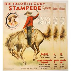 Buffalo Bill Cody Posters (3 Reproductions)
