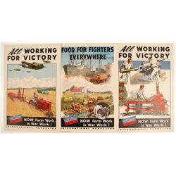 WWII Farm Victory Volunteers Lithographs (3)