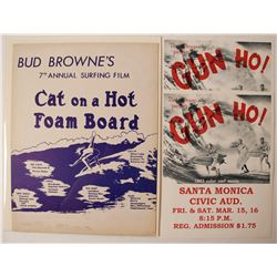 Posters (3) Bud Browne's Cat on a Hot Foam Board; & Gun Ho!