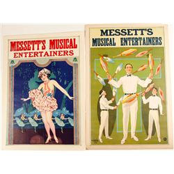 2 Lithographs of Messett's Musical Entertainers