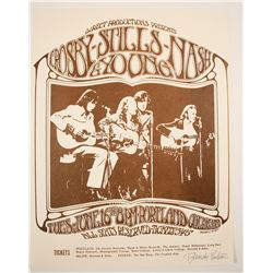 Crosby, Stills, Nash and Young Concert Small Poster