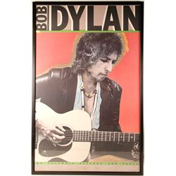 Framed Bob Dylan Columbia Records Poster