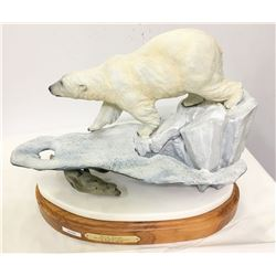 "Bronze Sculpture/ "" Polar Escape"" / By Todd. A. Swaim."