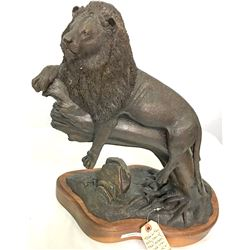 "Bronze Sculpture/ "" Simba Siesta "" / By Robert Holhouser"