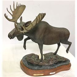 "Bronze Sculpture/ ""Alaska Monarch "" / By Robert Holhouser"