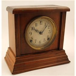 Sessions Mantle Clock, Brown Wood Case
