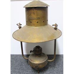 Early Brass Kerosene Lamp