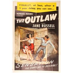 "Poster for ""The Outlaw"", a Howard Hughes Production"