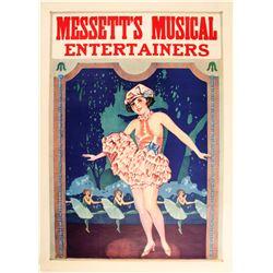 Lithograph Messett's Musical