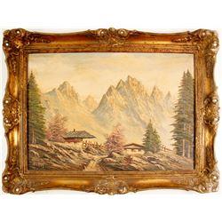 Oil Painting Of The Stubaier Alpen