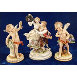 Porcelain Harvest Figurines ( 3 Items )