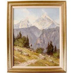 Mountain Scene by Ernst Carl Walter Retzlaff