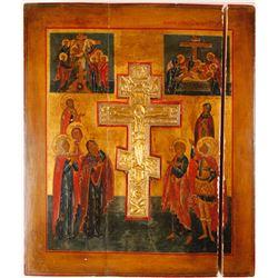 Icon Russian Orthodox Scene of Crucifixion