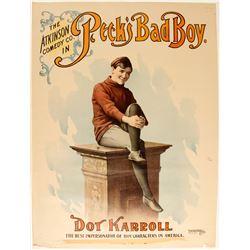 Lithograph of Peck's Bad Boy/Dot Karroll