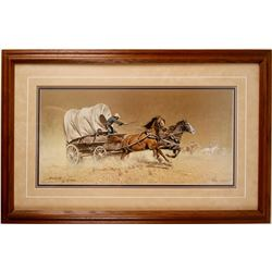 "Print of ""Race With The Hostiles"" By Frank McCarthy"