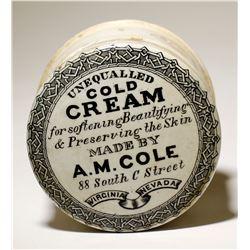 A. M. Cole / Cold Cream Pot Lid.