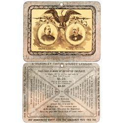 Grover Cleveland Tin Card
