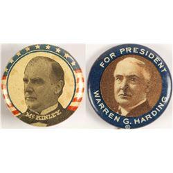 Harding/ McKinley Presidential Pins